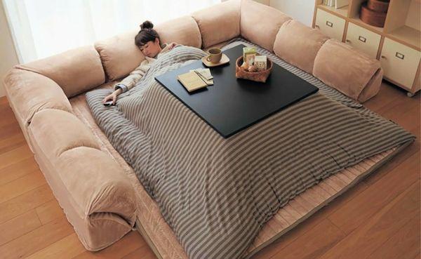 Bettdesign clever Sitz- und Schlafkomfort