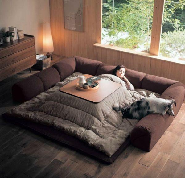 Bettdesign entspannen Heizquelle traditionell japanisch