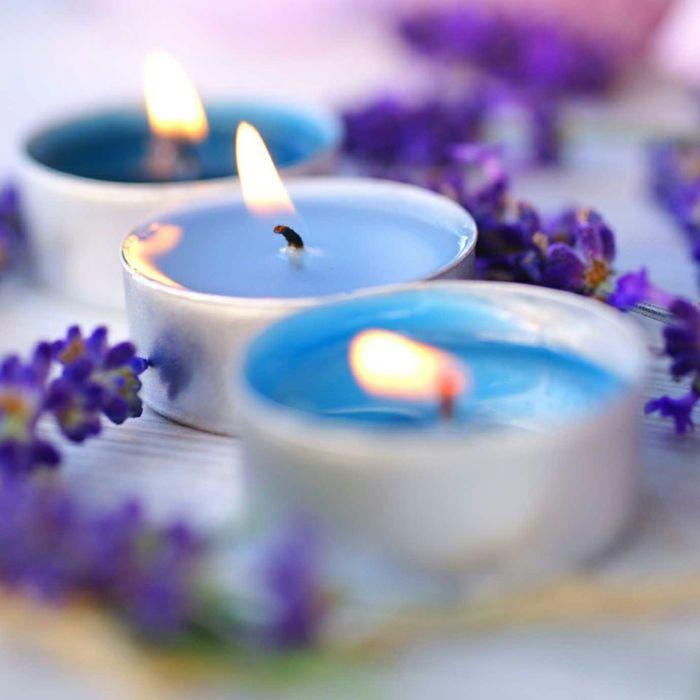 Blau Kerzen Interieur Stellen einsetzen