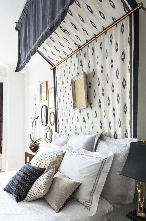 DIY Projekt Himmelbett luxuriös Decke