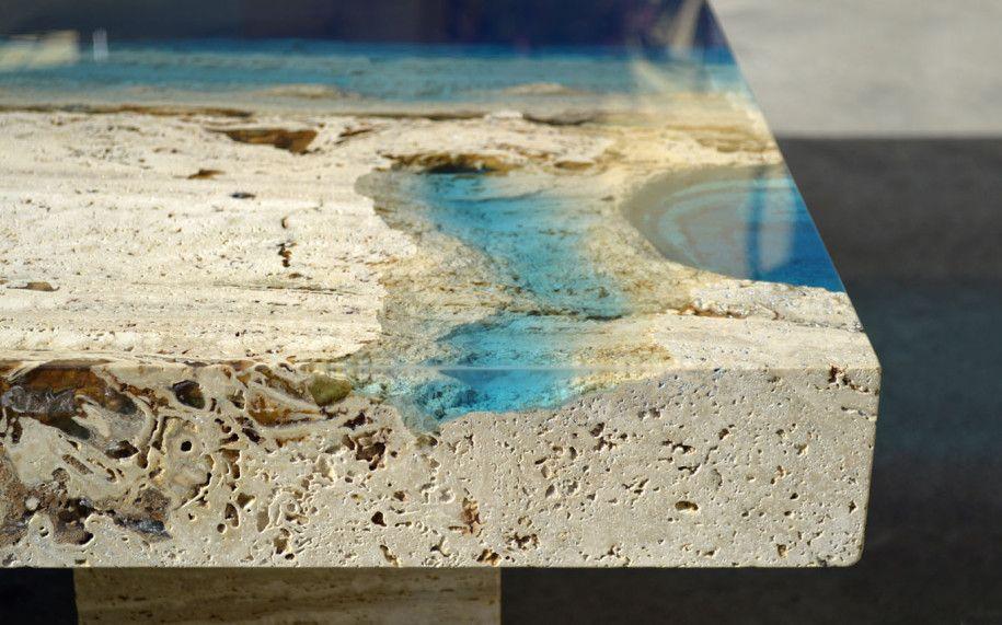 Design Wohnzimmer Tisch Meeresoptik