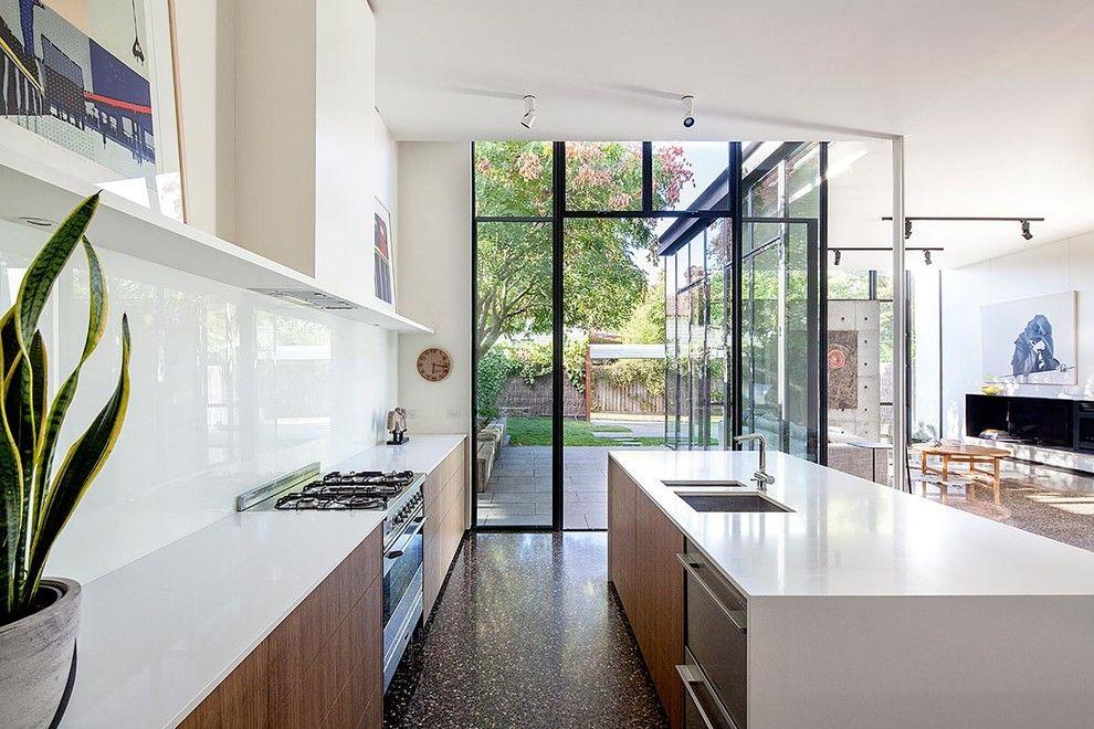Designer Küche Hochglanz Küchenrückwand