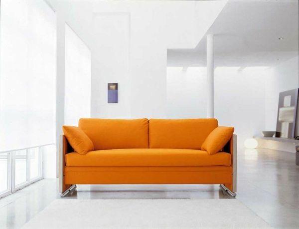Designer Multifunktionsmöbel Sofa Etagenbett Orange