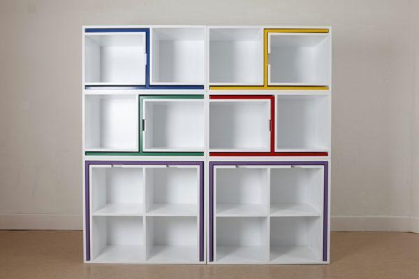 Designer Tischensemble Bücherregal kompakt