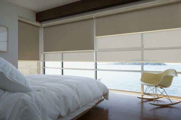 Duo Rollos Doppelrollos Fenstervorhang Glaswand