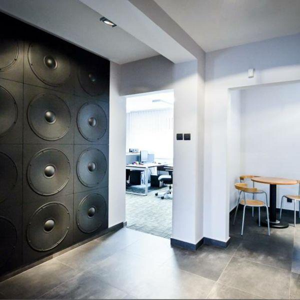 Einzelwandfläche Dekorpaneele Mottopaneel Lautsprecherbox Schwarz
