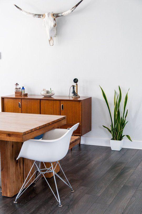 Esszimmer minimalistisch gestalten Holzmöbel