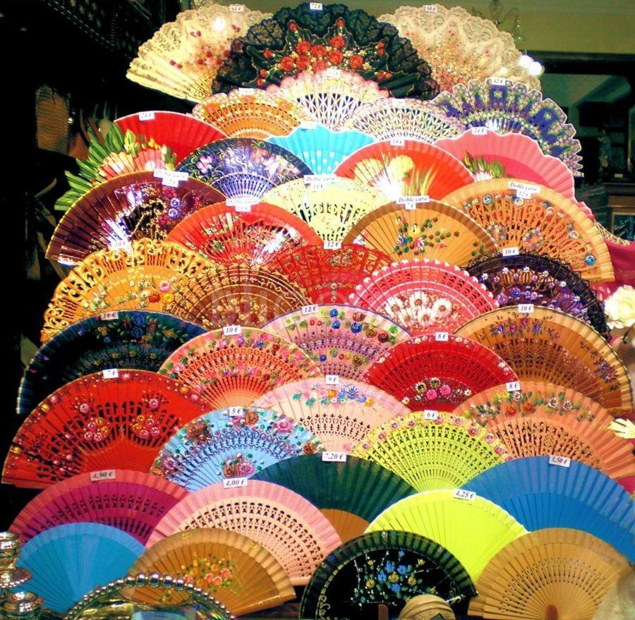 Flamenco hand-fan shop - Sevilla, Spain