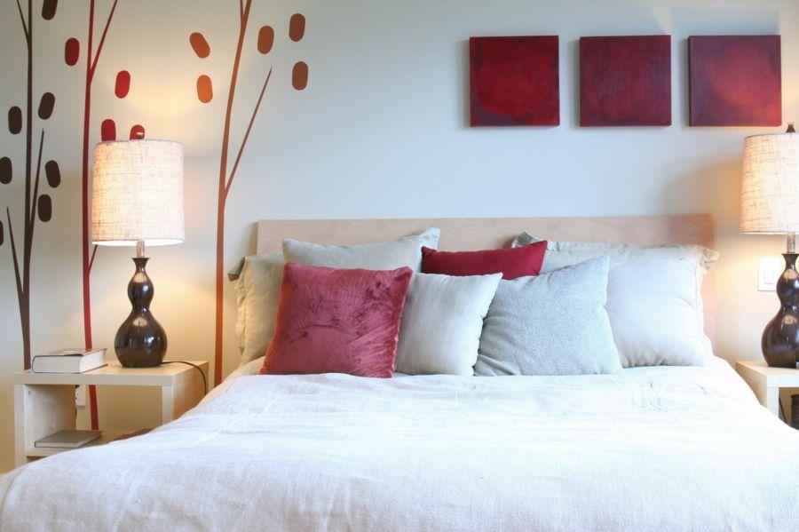 Farben Hilfsmittel Bettwäsche Rot Feng Shui