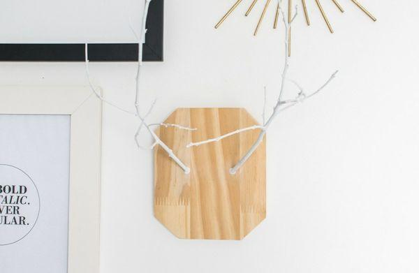 Faux Holz Tierkopf abstrakt minimalistisch
