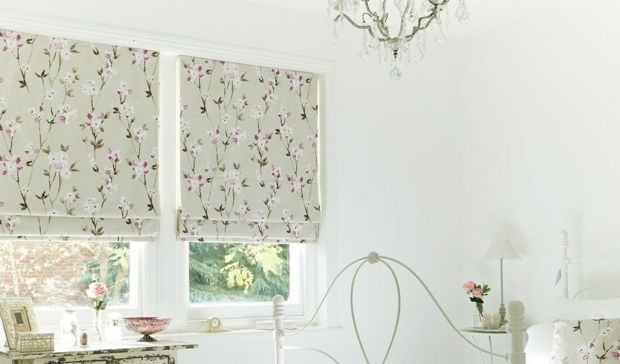 Fensterdekoration Shabby Chic Vintage Blumenmuster