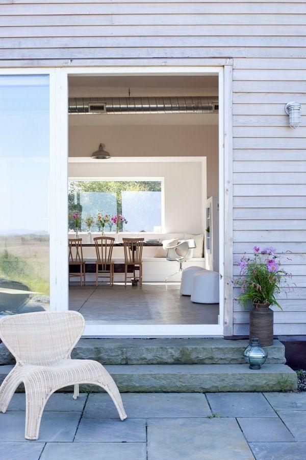 Ferienhaus Außenfassade Zedernholz Verkleidung