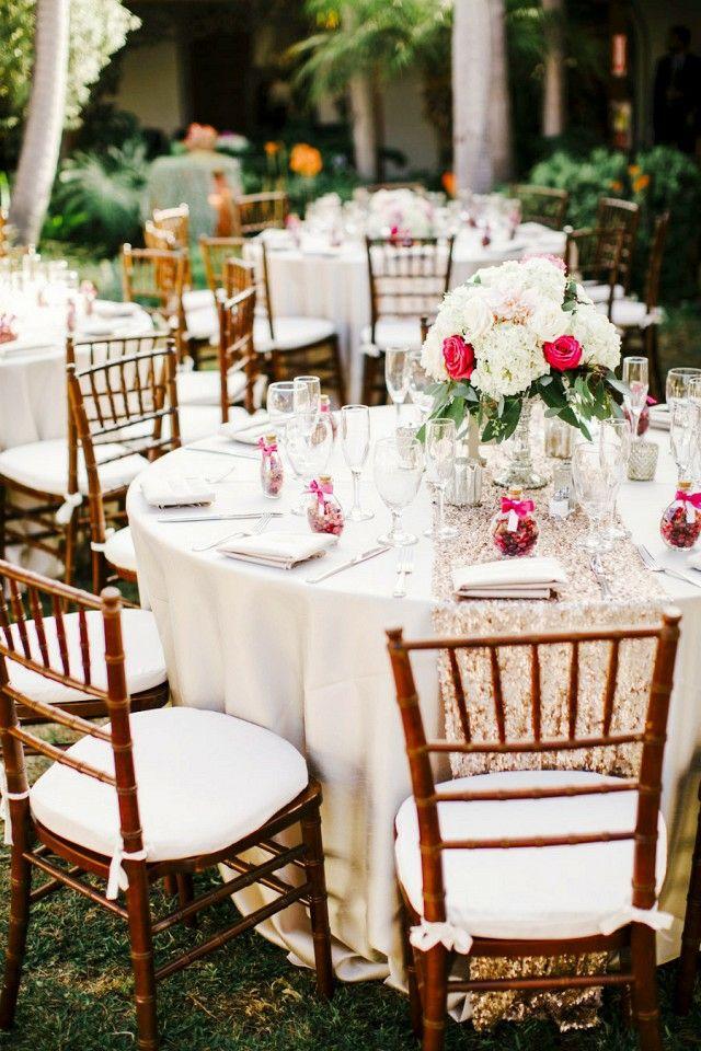 Festtafel Hochzeit Arrangement Tischdeko