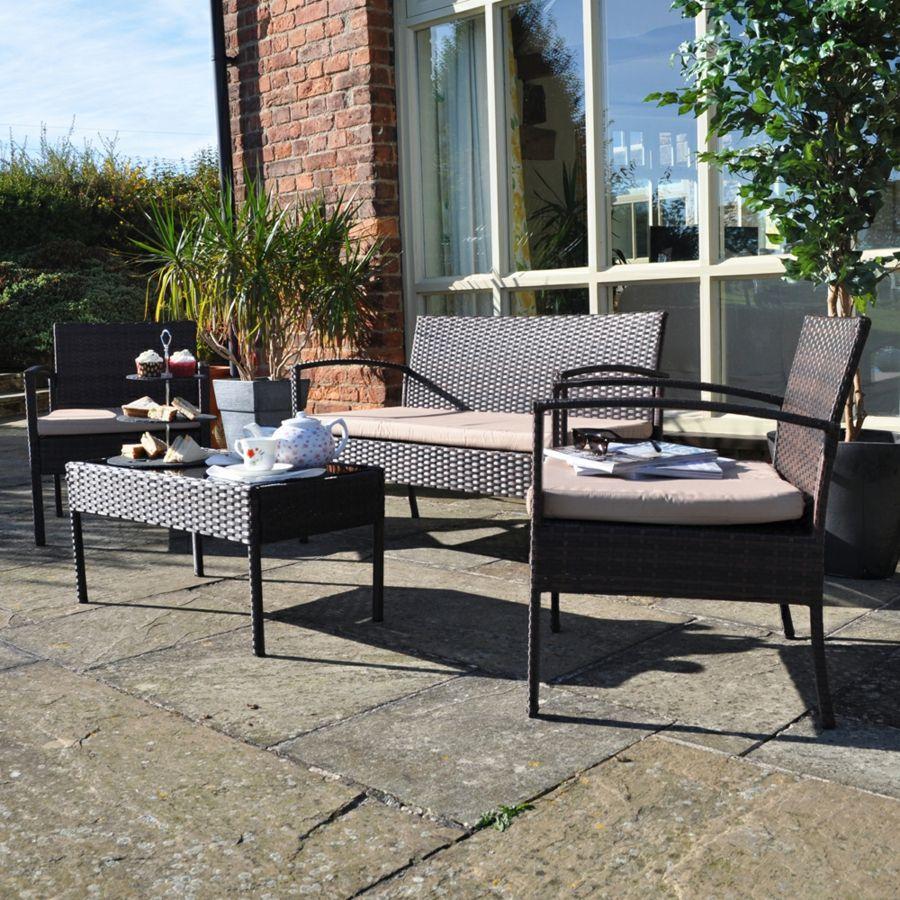 Gartentisch Sessel Polyrattan robust widerstandsfähig