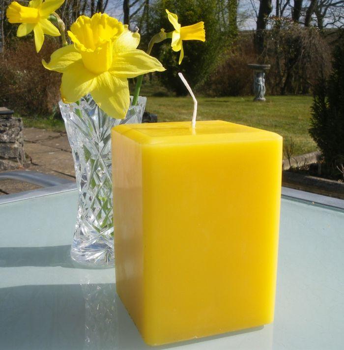 Gelb Kerzen Gesundheit Tisch platzieren