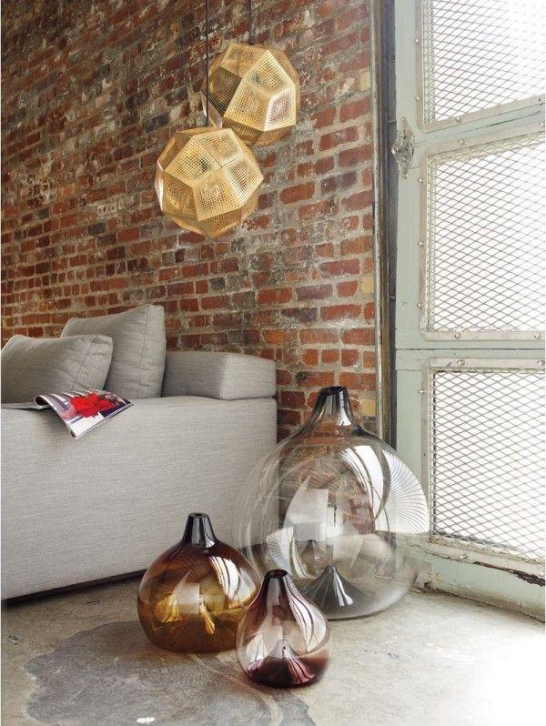 Glasvase Glasbläserei handgefertigt Designer