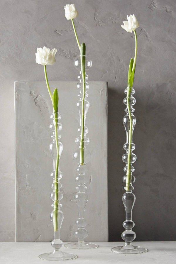 Glasvasen langstielig Schnittblumen Kerzenhalter Form