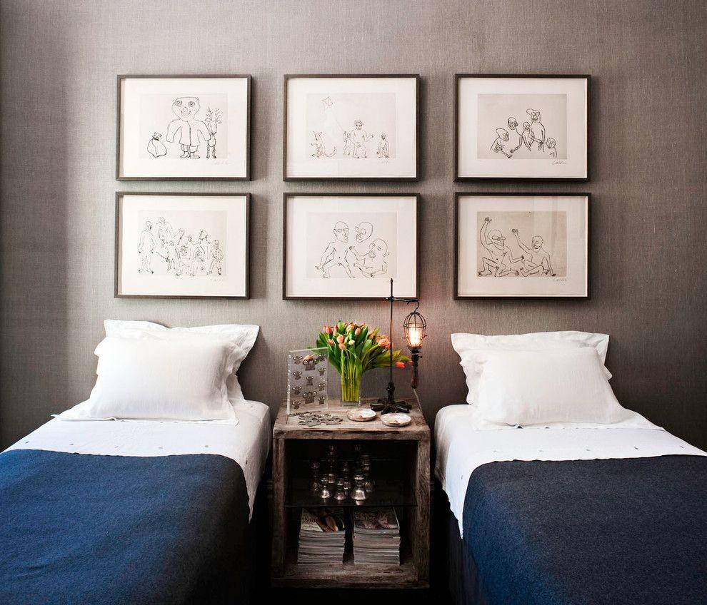 Handbemalt Karikatur Schlafzimmerwand Gestaltung
