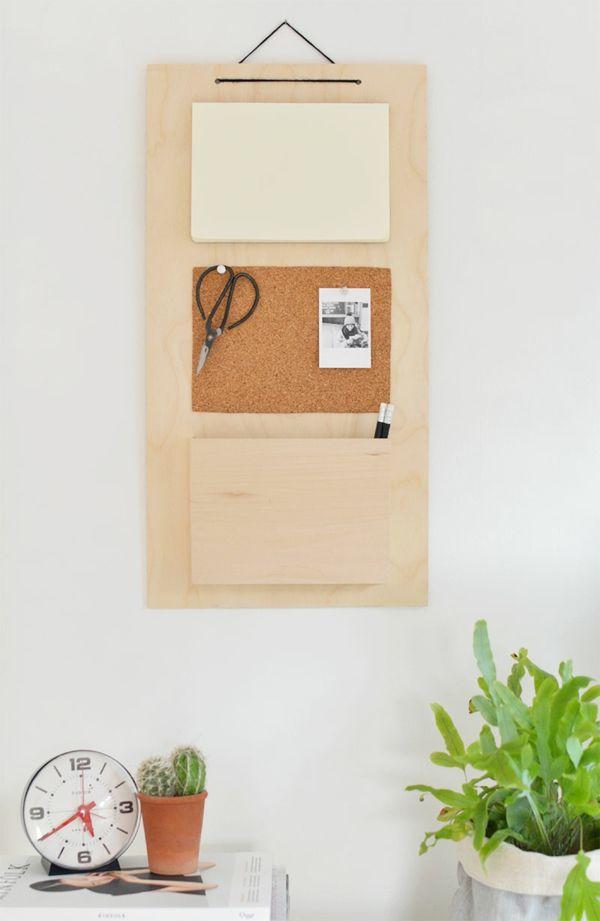 Holzbrett Notizen Wanddeko minimalistisch