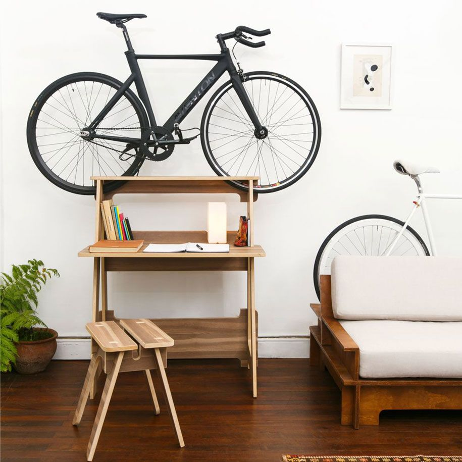 Innovativ Möbel Schreibtisch Fahrrad Halterung
