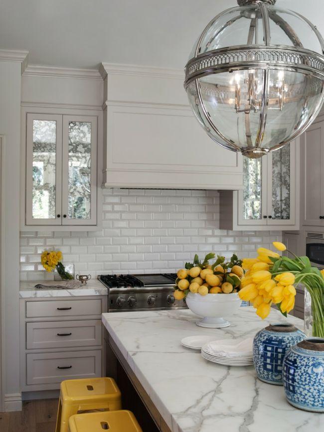 Küche Arbeitsplatten Marmor weiß