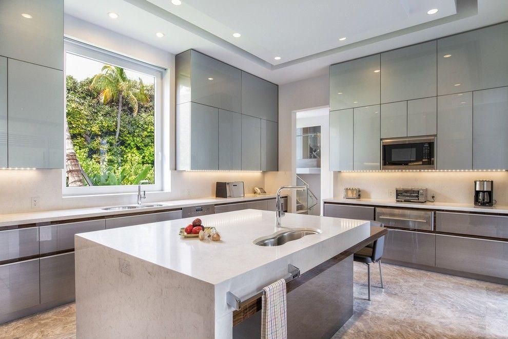 Küche Mattglas Wandschrank Hochglanz Arbeitsplatten