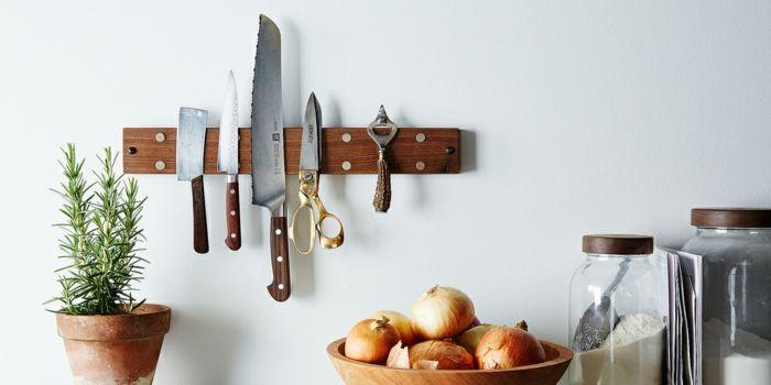Küche Organisation Messerhalter Magnet platzsparend
