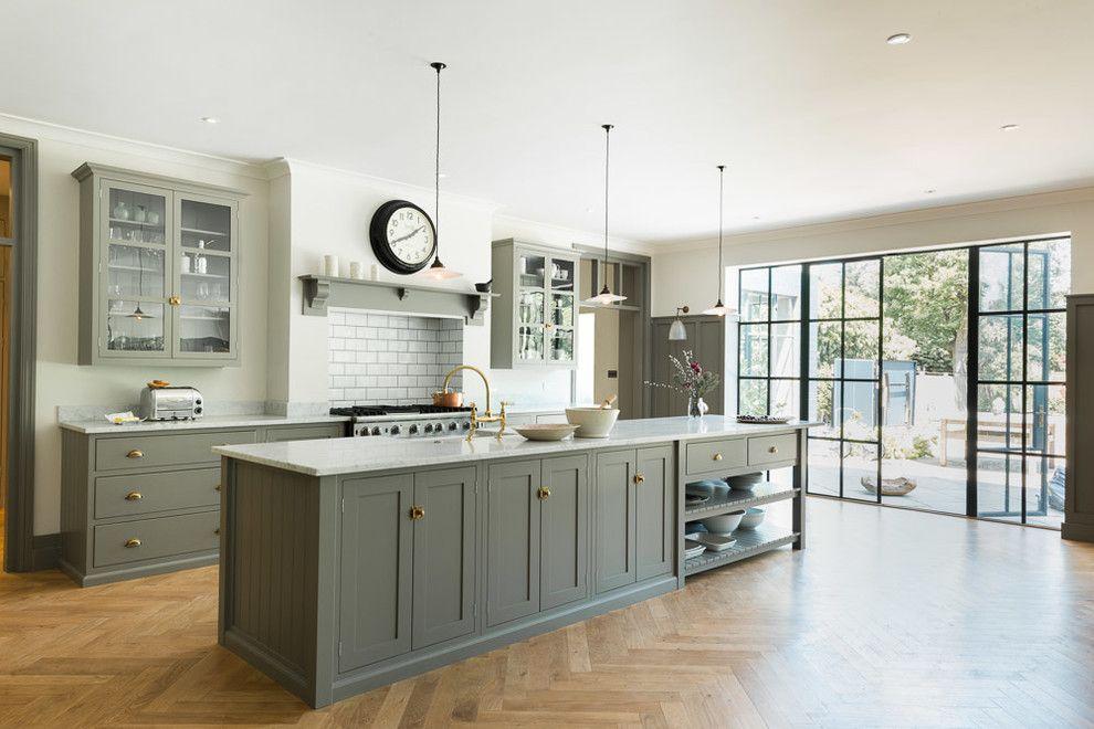 Küche gestalten Farbwahl Olivgrün