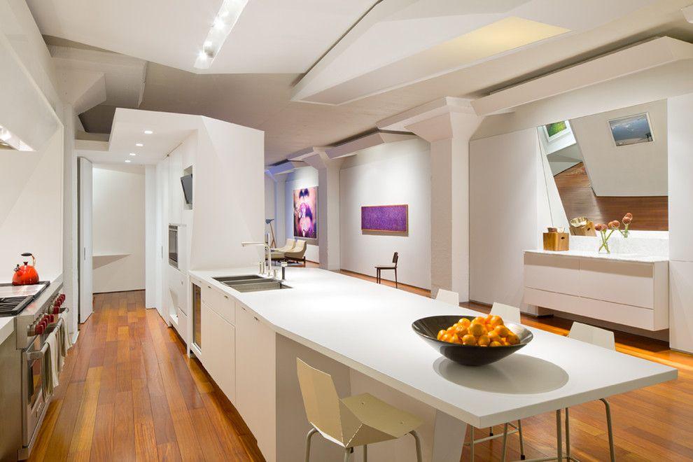 Küche modern futuristisch Wandgestaltung