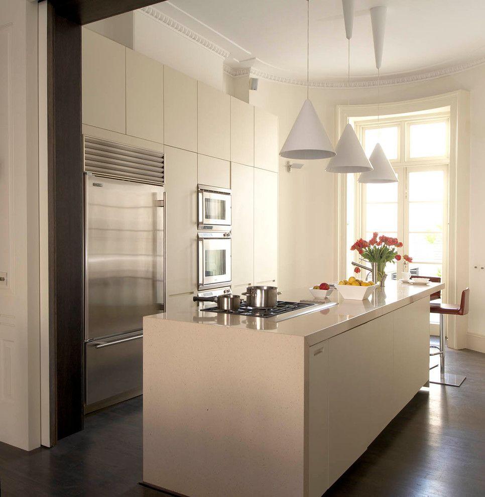 Küchenbereich Farbgestaltung schmutzig weiß grauweiß