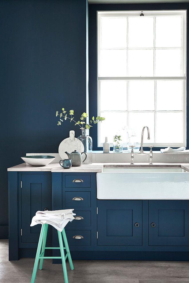 Küchenstil Farbwahl Blau Türkis