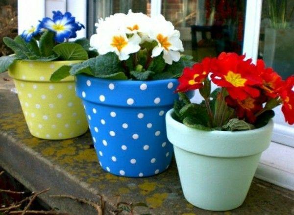 Keramiktöpfe selber malen und dekorieren
