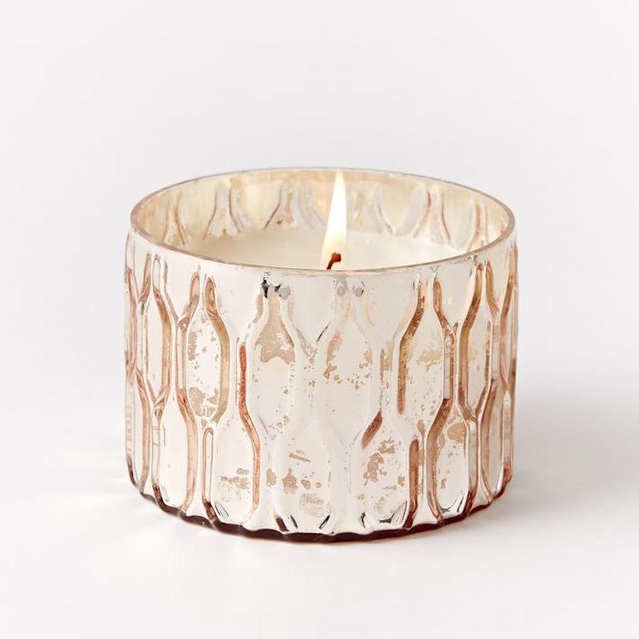 Kerzenhalter Duftkerze Glas rund