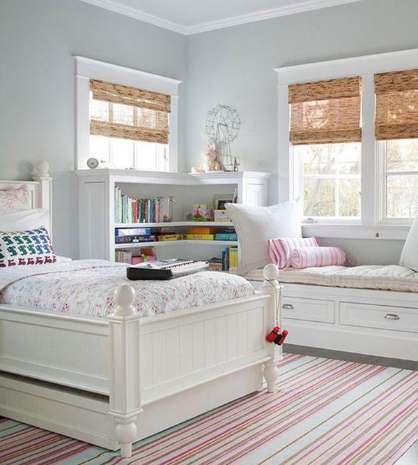 Kinderzimmer Jugendzimmer Sitzbank Stauraum Idee modern weiß