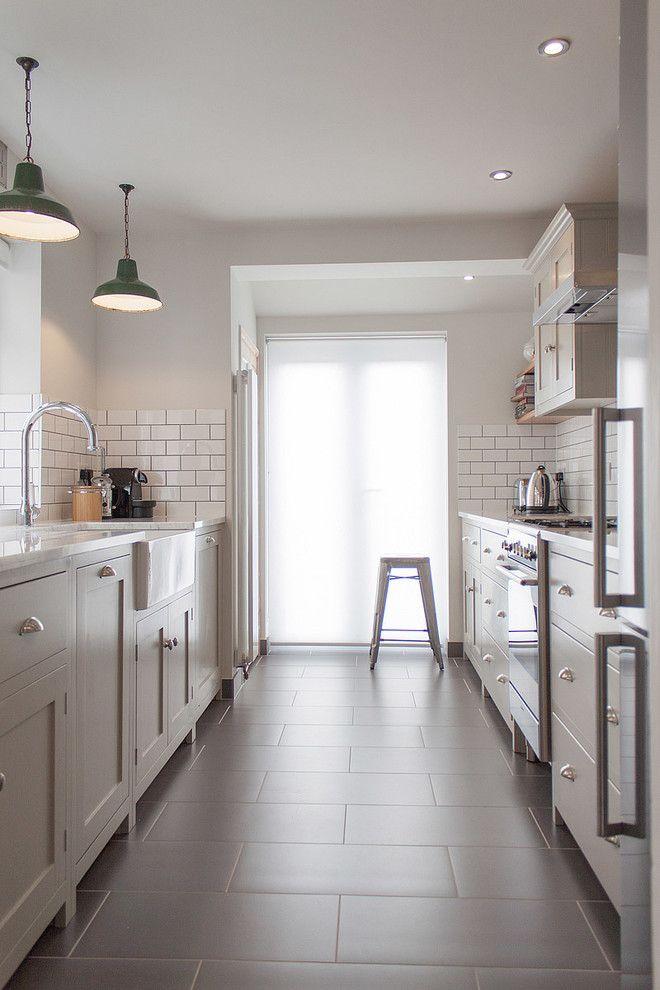 Klein Küche Bodenfliesen Backstein Küchenrückwand