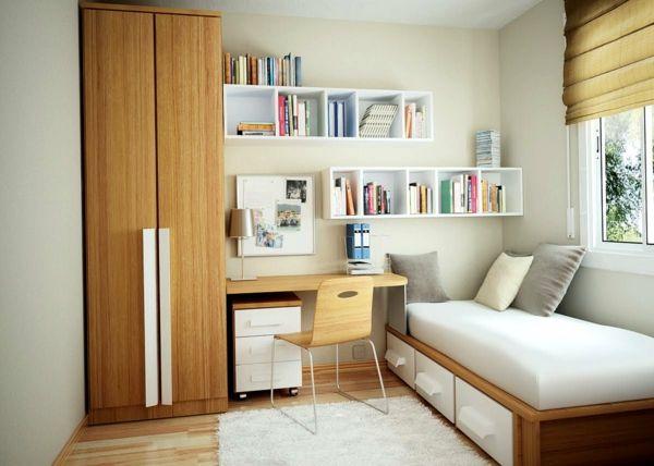 Kleines Schlafzimmer Deko Idee Platzknappheit