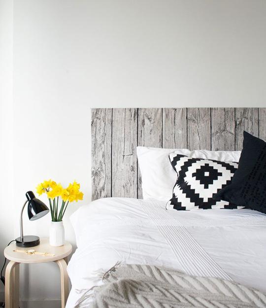Kopfteil Gestaltungsideen Holzoptik minimalistisch