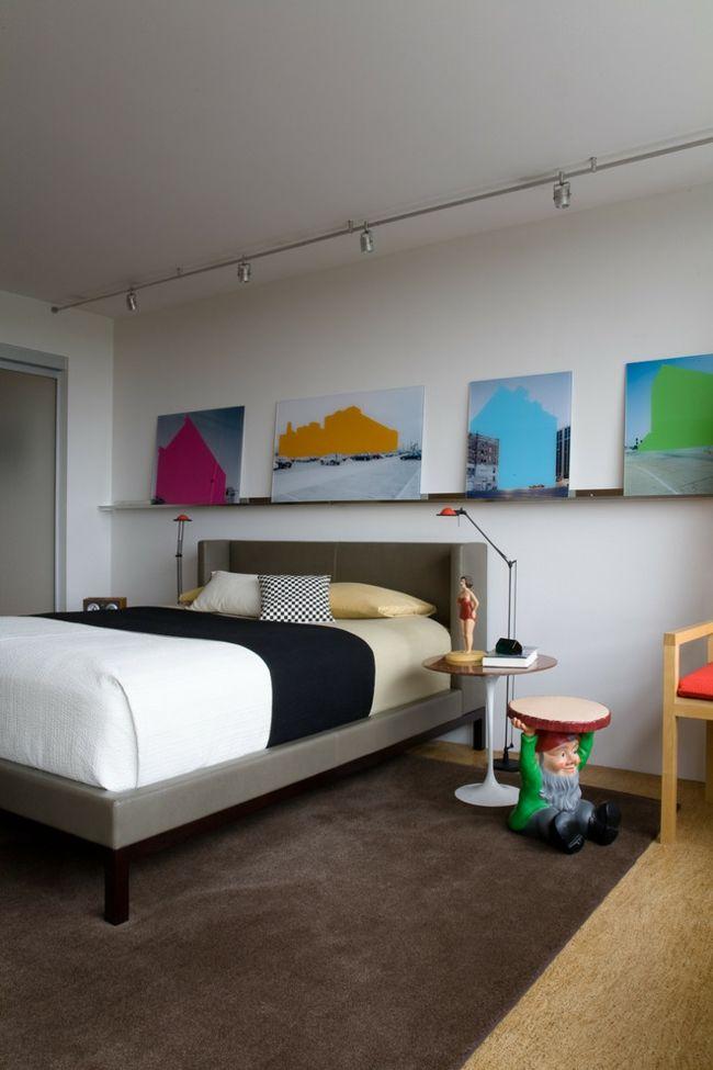 Kunst Schlafzimmer kräftig Farben