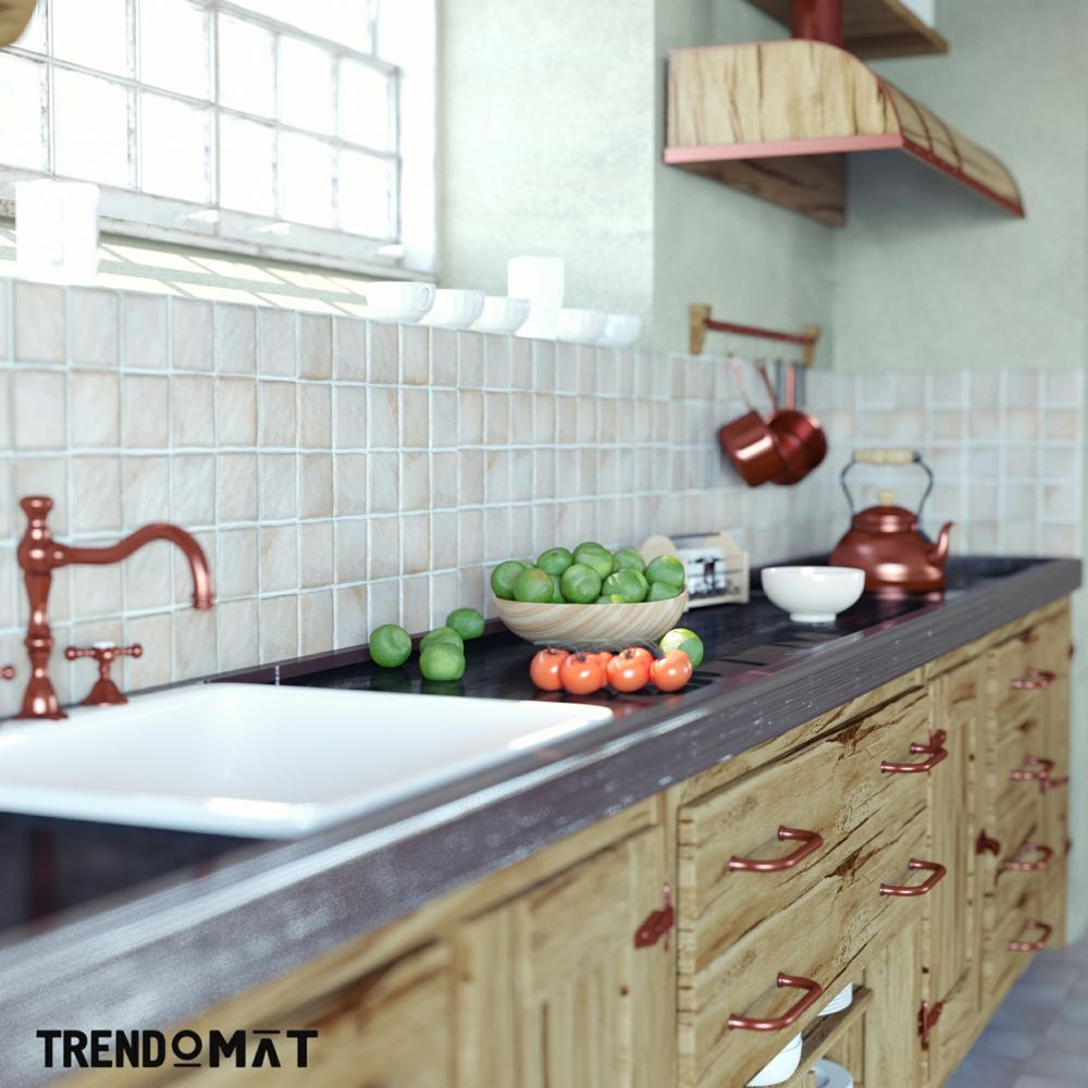 Die rustikale bauernk che weltvergessen oder wieder im for Decoration provencale pour cuisine