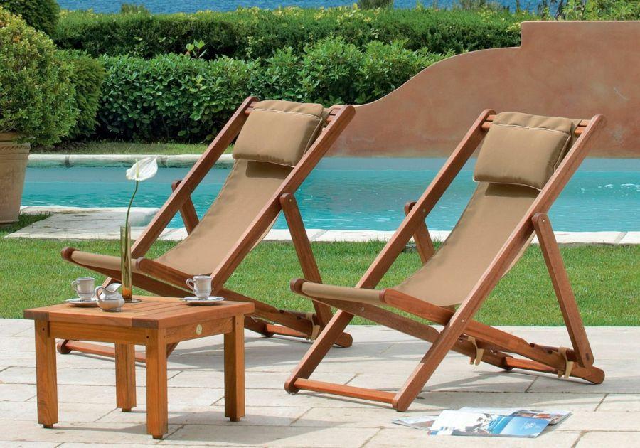 Lounge Möbel Holz Garten