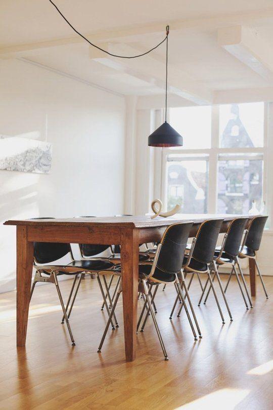 Massivholz lang Tisch Pendelleuchte