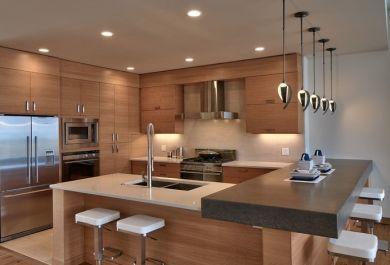 Moderne Küchenideen mit warmen Holzelementen - Trendomat.com
