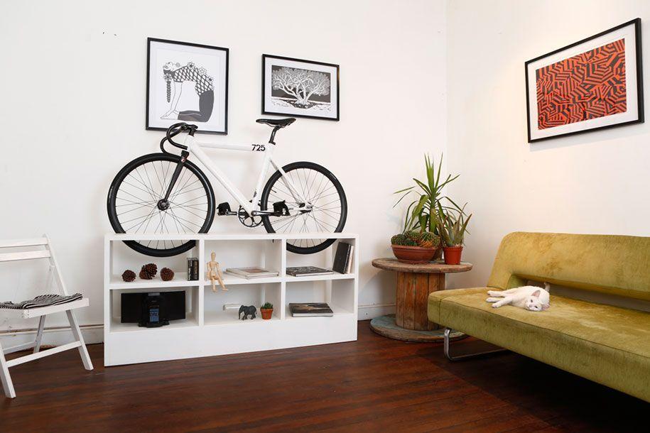 Modern Wohnzimmerschrank Fahrradständer platzsparend