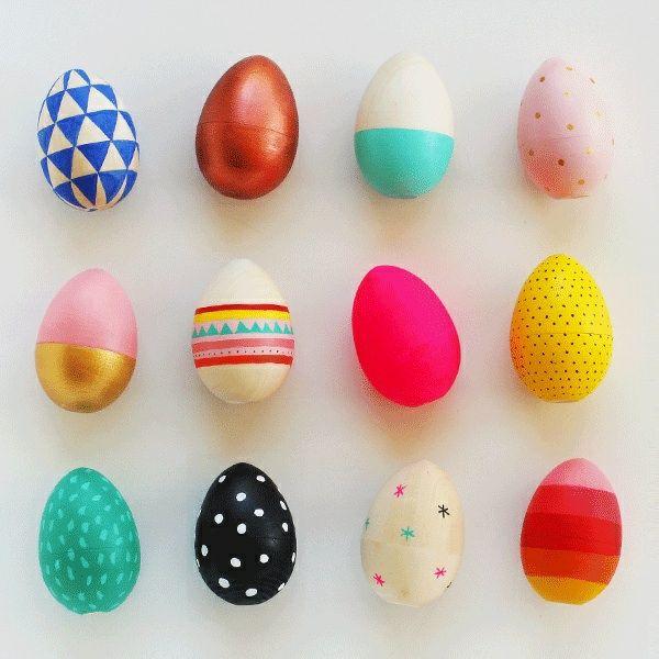 Ostern Dekoideen Eierbemalung Lebensmittelfarbe Ombre Look