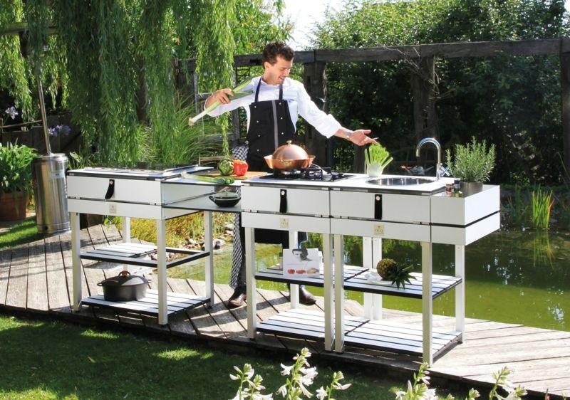 Outdoor kitchen Küchensystem Designer weiß
