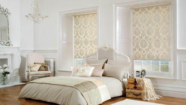 Römische Rollos Schlafzimmer Sekt Farbe