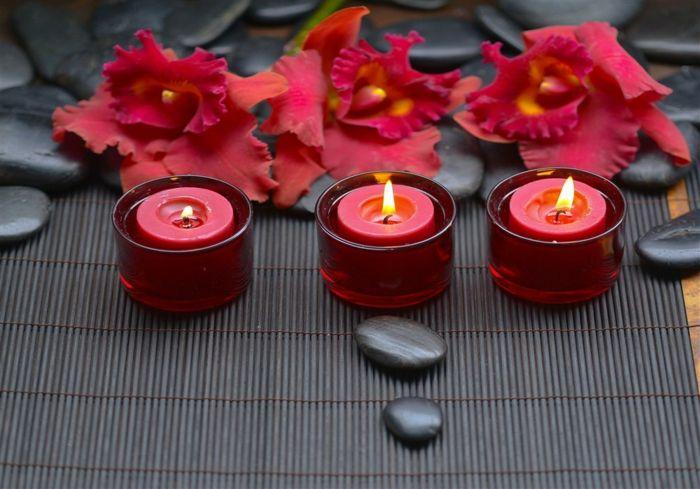 Rot Kerzen Lebensenergie beeinflussen