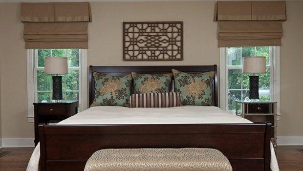 Schlafzimmer Design traditionell Faltrollos