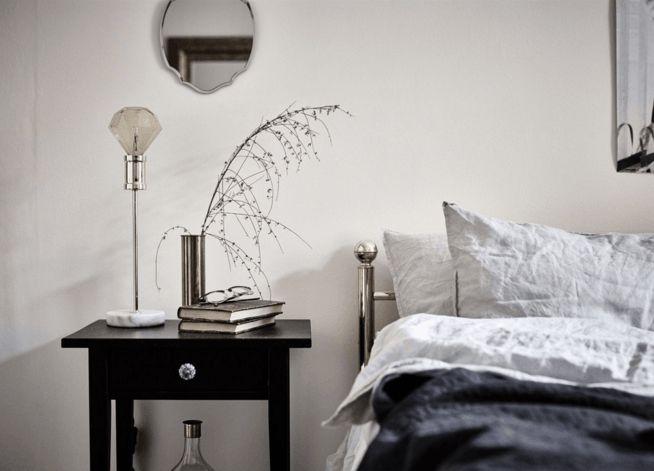 Schlafzimmer Luxus Designer schwarz-weiß