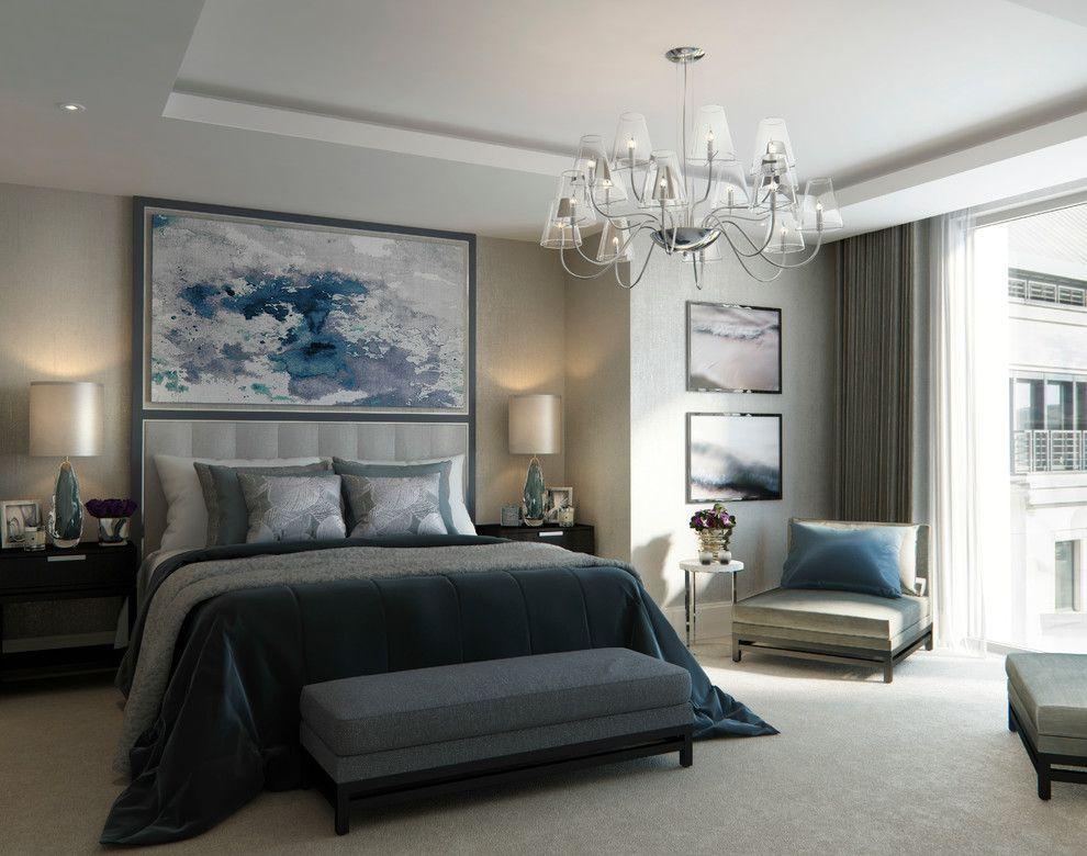 Schlafzimmer Wandgestaltung abstrakt Bild